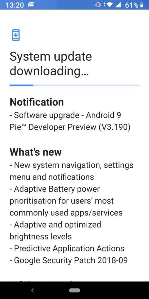 Nokia 7 Plus Android Pie beta 4.1