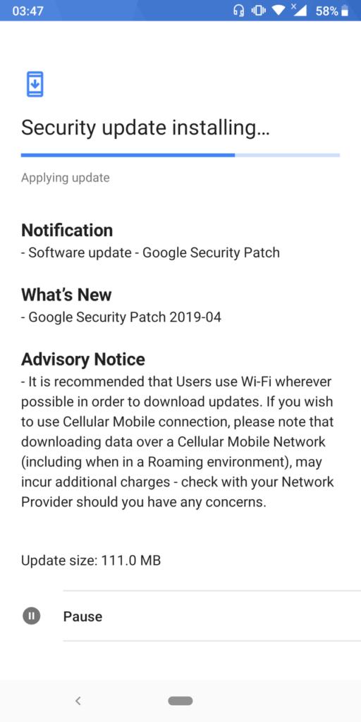 Nokia 5.1 April 2019 update